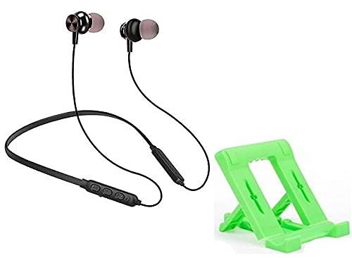 BLAXSTOC H15PENR Wireless Bluetooth In Ear Neckband Earphone with Mic (Multicolour)