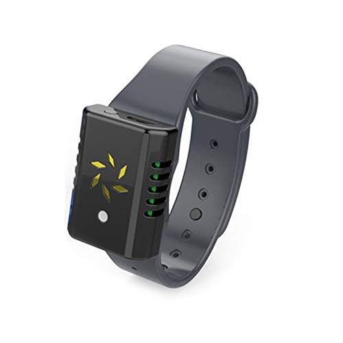 Pulsera Repelente De Mosquitos UltrasóNica USB Recargable PortáTil Al Aire Libre Anti Mosquito Wristband Pest Insect Control,Black