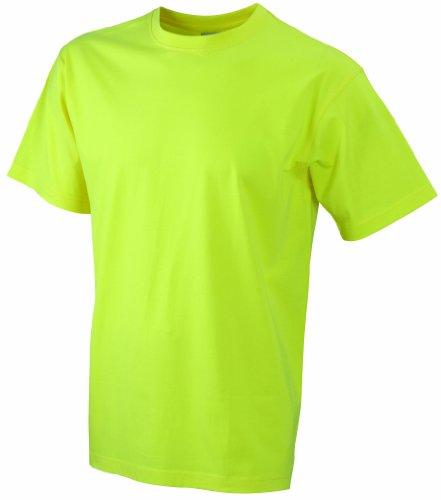 James & Nicholson Herren Kurzarm T-Shirt Round - T - Heavy ÜG, Gr. XXXX-Large, Gelb