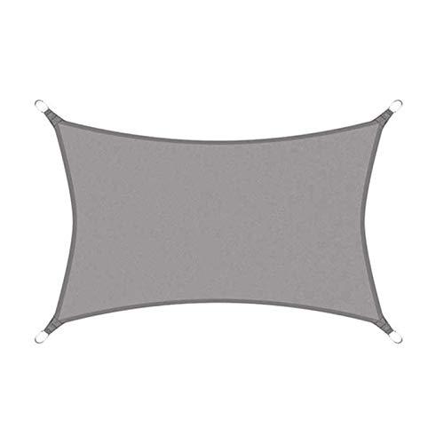 sun shade sail Patio, tela impermeable con bloqueo UV para patio al aire libre, jardín, patio, patio, 0 x 9S4Z (color: gris, tamaño: 3 x 3 m)