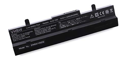 vhbw Li-Ion Akku 2200mAh (10.8V) schwarz für Notebook Laptop Asus Eee PC 1005P, 1005HA, 1001P, R101, R101D, R101PX, R101X, R105, 1001PQD, 1001PX.