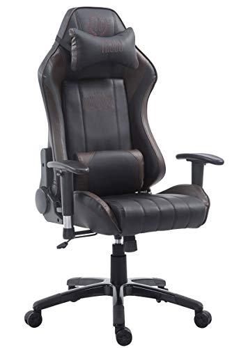 CLP Sedia Ufficio Racing Shift XL in Similpelle I Poltrona Pc Gaming Carico Max 150 kg I Poltrona Set-Up Gamer, Colore:Nero/Marrone, Poggiapiedi:Senza poggiapiedi