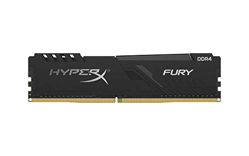 HyperX Fury 4GB 2400MHz DDR4 CL15 DIMM  Black XMP Desktop Memory Single Stick HX424C15FB3/4