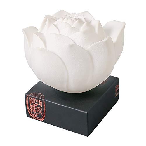 Lámpara de Cabecera Zen Lotus lámpara de mesa de noche retro china noche de la luz hecha a mano adecuado for vivir Sala de Estudio Dormitorio LLámpara de Noche ( Color : White , Size : W 11.4' )