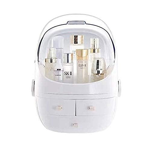 Organizador de maquillaje, soporte de almacenamiento de mesa de escritorio, caja de almacenamiento cosmética a prueba de polvo, gran capacidad, regalos de Pascua..