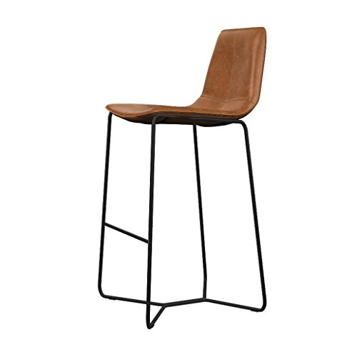 Chairs Barhocker Hochstuhl für Bar Cafe Loft Vintage Eisen Lounge Stuhl Braun LI Jing Shop (größe : 45X56X75cm)