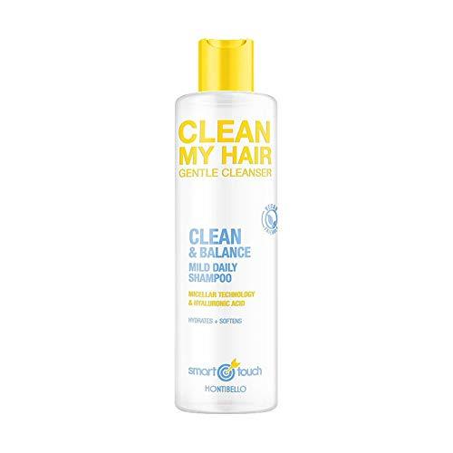 Montibello Smart Touch Clean My Hair Champú 300 ml, Blanco, 300ml, 300