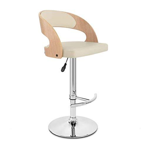 WWW-W-DENG barkruk, bureaustoel, verstelbaar, met lendensteun met rugleuning, barstoel, hoge stoel met bureaustoel, PU-leer, rugleuning