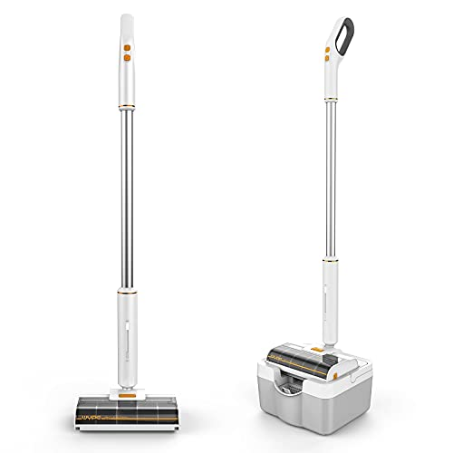Cordless Vacuum Cleaner, Lightweight Wet Dry Vacuum and Mop Combo, Excellent 60 Min Runtime 3 in 1 Handheld Stick Vacuum Cleaners for Hardwood Floor with Dual Water Tank and One-Step Cleaning System