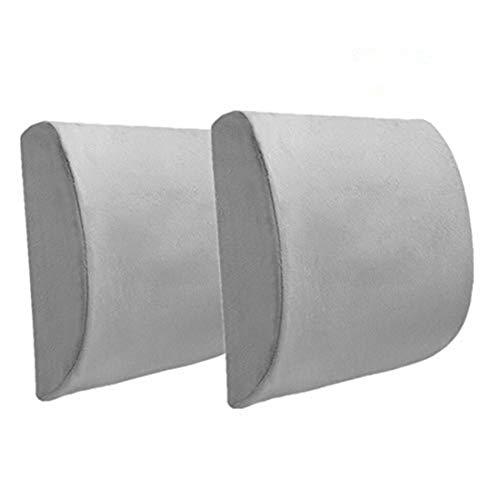Ecloud Shop® Rückenkissen Memory Foam Lordosenstütze mit verstellbarem Gurt, lindern Rückenschmerzen Kissen geeignet für Bürostuhl-Grau