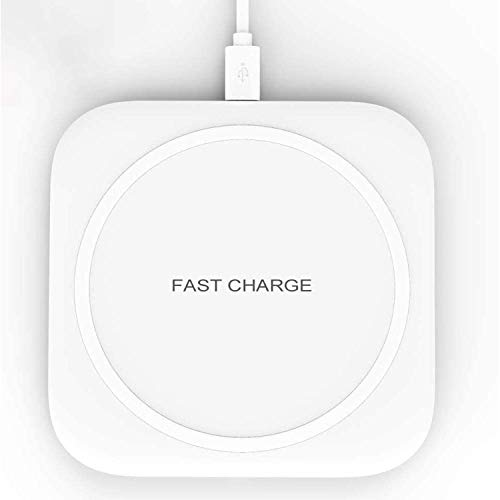 Hoidokly Wireless Charger 10W Schnelles Kabelloses Induktions Ladegerät Qi Induktive Ladestation für Samsung Galaxy S20/S20 ultra/S10/S10e/S9/S8/Note 10/9, 7.5W für iPhone 11/11 Pro/XS Max/XR/X/8 Plus