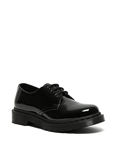 Dr. Martens Women's 3 Eye Shoe Oxford, Black Patent Lamper, 7