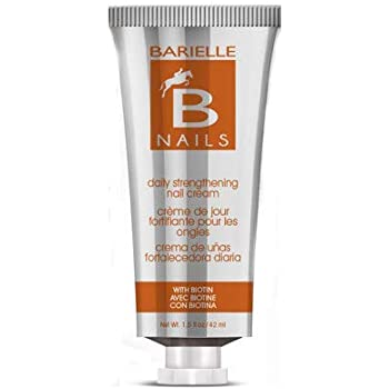 Barielle Nails Daily Strengthening Nail Cream with Biotin 1.5 Ounce - for Splitting, Brittle, Ridged, Breaking, Soft and Damaged Nails, Leaves Nails Strong, Healthy and Revitalized