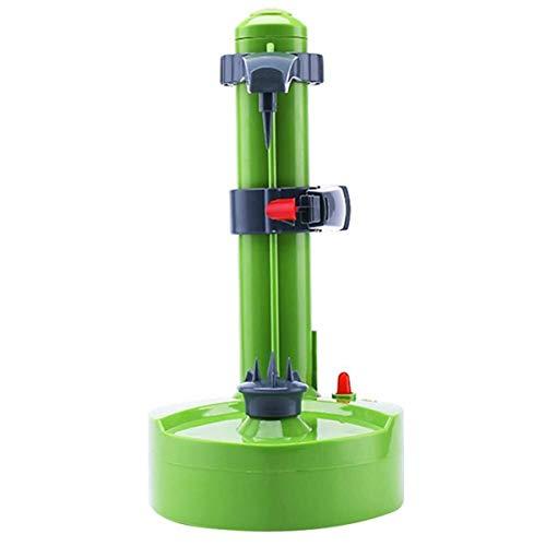 Automático eléctrico patata Peeler - Rotación automática de frutas y verdura del cortador de Apple de pelado de la máquina herramienta de la cocina vegetal cortador máquina peladora ( Color : Green )