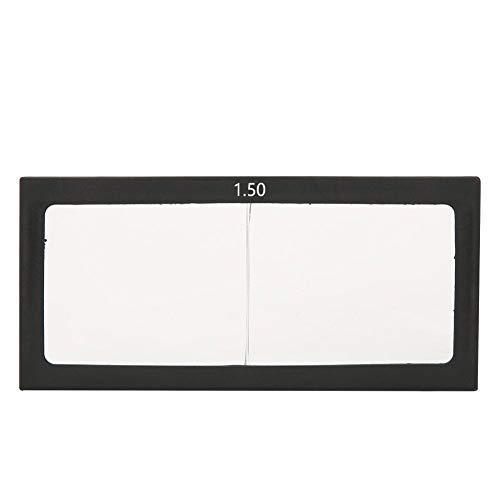 Cristal de soldadura lente lente filtro de oscurecimiento automático oscurecimiento horizontal protección de los ojos soldador Accesorios 1.0/1.5/2.0/2.5/3.0 Dioptría (1.5)