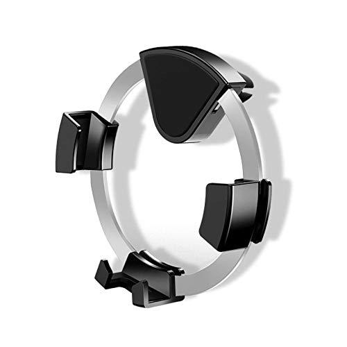 Ringlamp statief ringlamp ringlicht met statief ringlicht licht Creative Outlet Gravity Metal Bracket Car Air Conditioner Bracket mobiele telefoon 360  Rotating Car Gravity Bracket, zilver