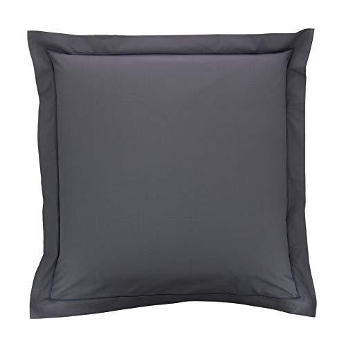 Taie d'oreiller Percale 65x65 Gris - Couleur: Gris