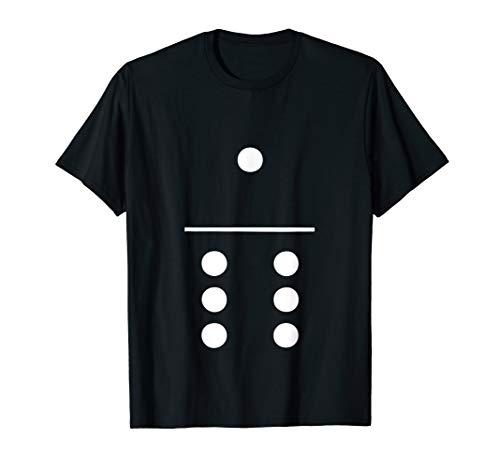 Domino Halloween-Kostüm Gruppe T-Shirt 1–6Spielsteine Tee
