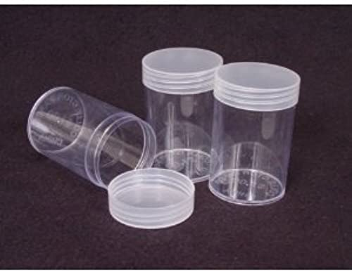 COIN STORAGE TUBES, round clear plastic w  screw on tops for CENTS   PENNIES (Quantity of 10 tubes) by DOMAGrün Coins