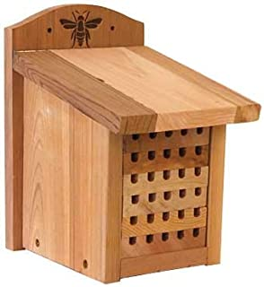 "Woodlink 28552 Heavy Duty Cedar Mason Bee, Small Insect House, 9.5"" H, Wood"