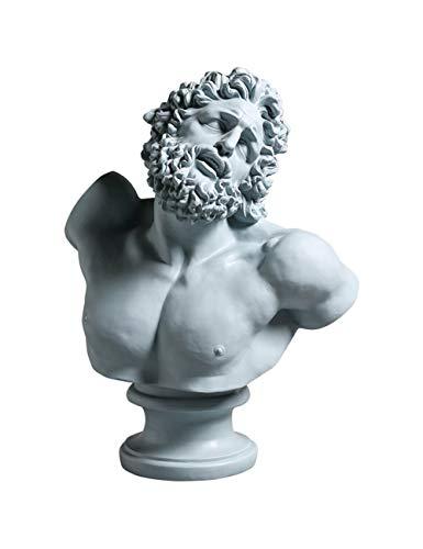 MHUI Cabeza Estatua de Resina Escultura de Cabeza y Busto Estatua decoración Maceta florero jardín decoración del hogar