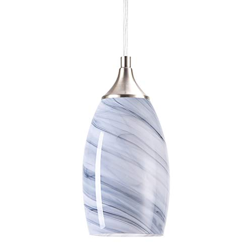 SUNPIN Hanging Pendant Lighting, Handcrafted Marble Glass...