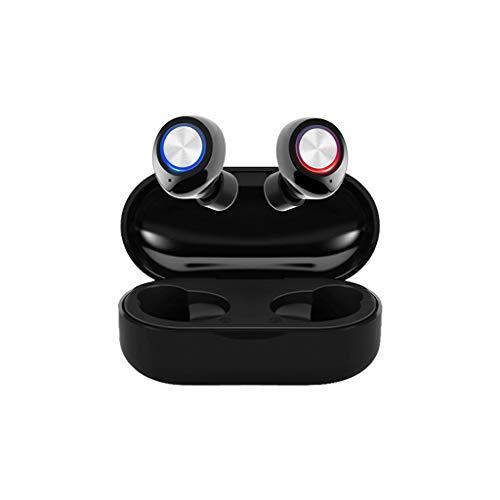 Bluetooth 5.0 Kabelloser Kopfhörer Kabellose Ohrhörer In-Ear-Headset Bass HD Stereo, TWS Sport Ohrhörer Mini Ear-in Stereo-Minikopfhörer mit Tragbar Ladebox, 3D Noise Canceling, IPX7 Wasserdicht
