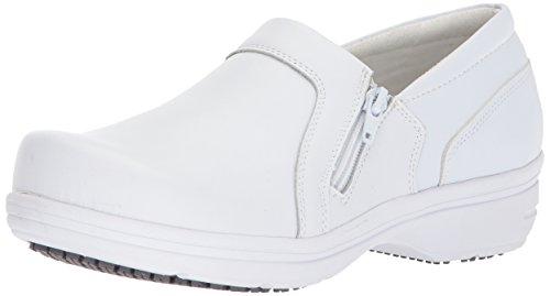 Easy Works Women's Bentley Health Care Professional Shoe, White, 8.5 X-Wide
