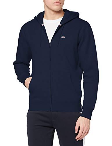Tommy Jeans Fleece Zip Hoodie Sudadera con cremallera regular de forro polar TJM, Azul Marino (Twilight Navy), L Hombre
