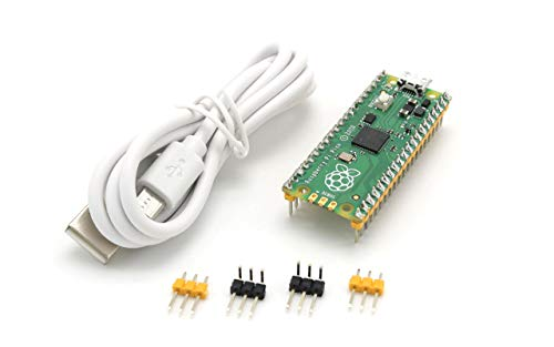 Raspberry Pi Pico Board with Pre-soldered Header Flexible Microcontroller Board Based The Raspberry Pi RP2040 Chip Featured Dual-core ARM Cortex M0+