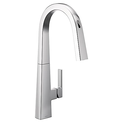 Moen S75005EVC Nio U by Moen Smart Pulldown Kitchen Faucet with Voice Control and MotionSense,...