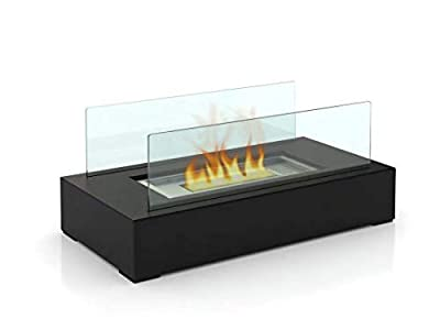 GOOD GO SHOP Fire Desire's Cubic bio Ethanol Fireplace, Table Top, Tempered Glass, Indoor Outdoor