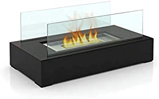 Fire Desire's Cubic Fireplace - Best Seller, Perfect for Table Top, Tempered Glass, Both Indoor and Outdoor Use, Great for Decoration, Cozy Atmosphere, German Design, Can Put Anywhere, Table Top, Easy to Assemble, Portable, Reusable Fireplace