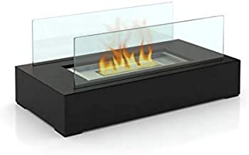 Designer's All Season Table Top Ethanol Fireplace, Both Indoor and Outdoor Use 14 * 7 * 5inces Black