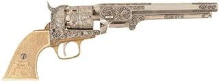 Denix 1851 Engraved Navy Revolver, Silver - Non-Firing Replica