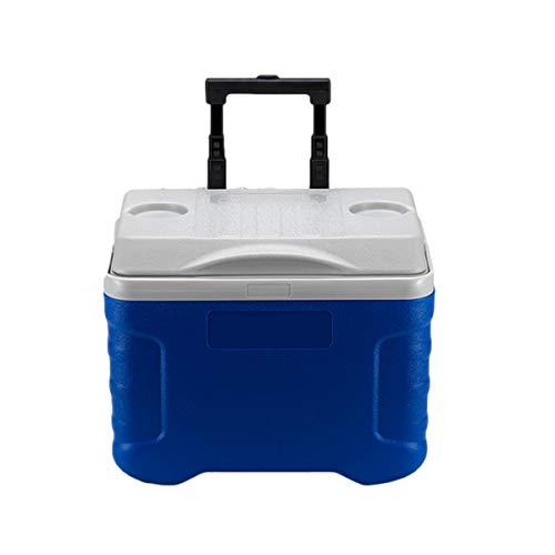 Nevera con Ruedas, Capacidad De 20 litros Neveras para Acampar Refrigerador con Aislamiento De Doble Compartimento Que Mantiene El Frío Y El Calor para Viajes Y Picnics Al Aire Libre