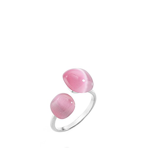 MORELLATO Damen-Ringe 925 Sterlingsilber mit Kissenschliff Katzenauge - Ringgröße 58 (18.5) SAKK34018