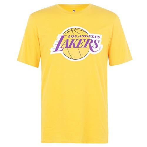 NBA Hombre Logo Camiseta Deportiva Cuello Redondo Ligera Lakers XL