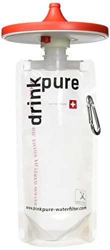 DrinkPure Wasserfilter , Rot, 12 cm