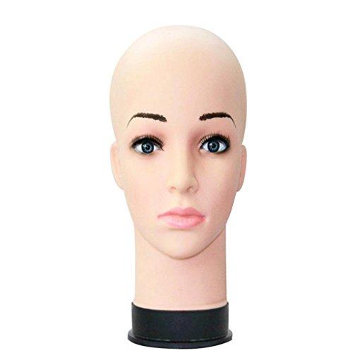 Vovotrade® Mannequin Tête de Pratique Maquillage Perruque Chapeau Affichage Formation Modèle Extension des Cils