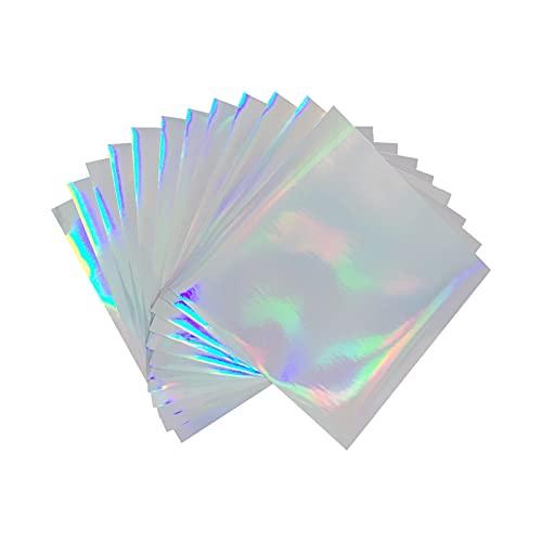 12' x 12' Holographic Permanent Vinyl, 12 Sheets Permanent Vinyl for Cricut...