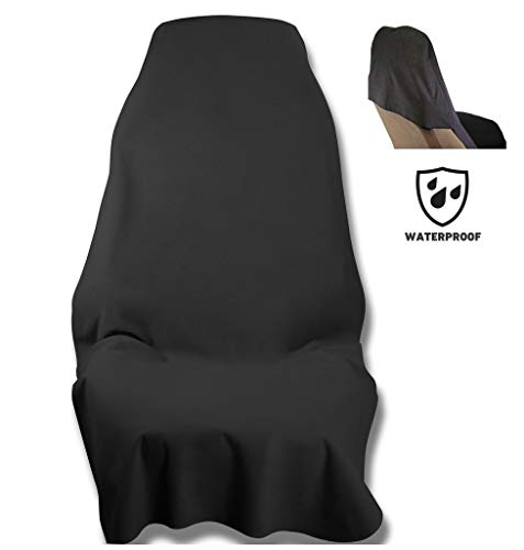 Waterproof SeatShield UltraSport Seat Protector (Black) - The Original Removable Auto Car Seat Cover - Soft Odor-Proof, Guards Leather or Fabric from Sweat, Food, Spills, Sand and mud