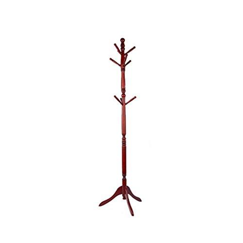 XiaoXIAO Continental Solid Wood Coat Rack Floor Simple Fashion Hanger Dormitorio Creativo Estante Colgante Ropa Interior Estante Perchero