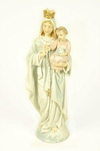 "Figura Religiosa Decorativa ""Virgen María con Niño"" Figuras Color. 9 x 8 x 26 cm."