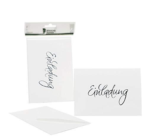 Rössler 1181955009 Kartenpack B6 (120 / 240 x 169 mm), - Einladung - weiss