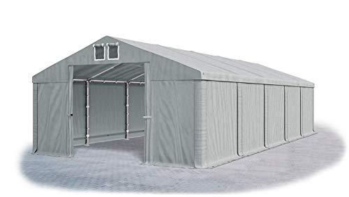 Das Company Lagerzelt 5x10m wasserdicht grau Zelt 560g/m² PVC Plane hochwertig Zelthalle Summer SD