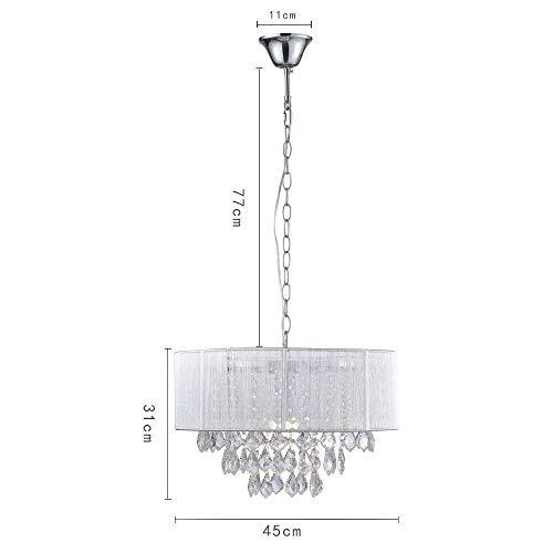 Saint Mossi Moderne K9 Kristall Regentropfen Kronleuchter Beleuchtung Unterputz LED Deckenleuchte Pendelleuchte für Esszimmer Badezimmer Schlafzimmer Wohnzimmer Breite 43 x Höhe 27 cm - 7