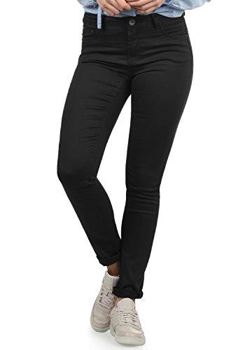 DESIRES Lala Damen Jeans Denim Hose Röhrenjeans Stretch Skinny Fit, Größe:W29/30, Farbe:Black (9000)