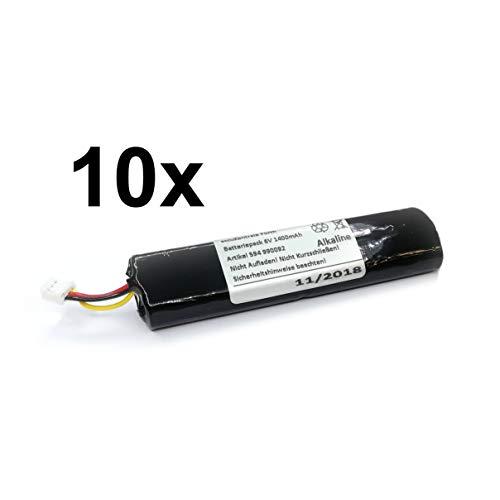 10x Batteriepack passend für Telenot BP3 DSS2 für Funk-Geruchsmelder AKG233 oder Meldesender MS 221