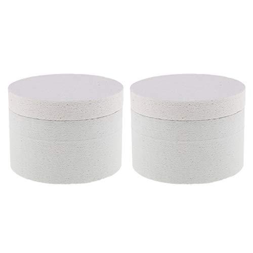 IPOTCH Pack De 2 Pcs Vitrail Fusing Fournitures Professionnel Petit Four À Micro-Ondes Kit Outil Pour La Fusion Verre Bijoux Perles Charms